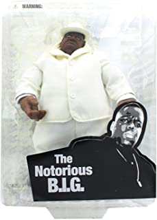 Mezco Toyz Rap Stars Action Figure Notorious BIG (Biggie Smalls) in White Suit by Music