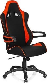 hjh OFFICE GAME PRO II - Silla gaming o de oficina, tejido negro y rojo