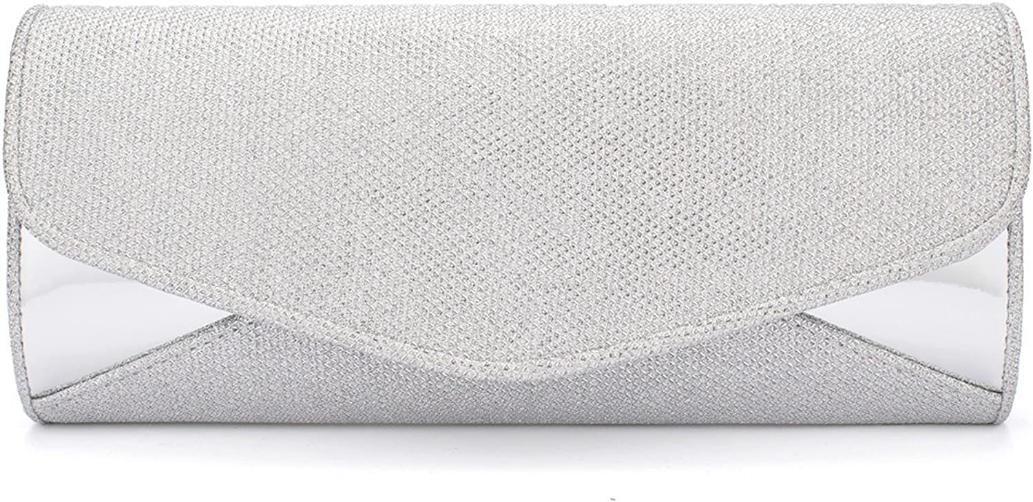 Darama Ladies Party Bling Glitter Patchwork Clutch Bag