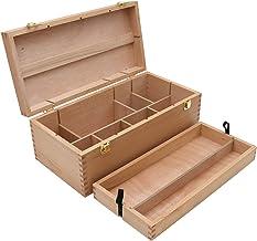 XXL gebruiksvoorwerpen koffer, schilderkoffer, schilderdoos, penseel doos hout