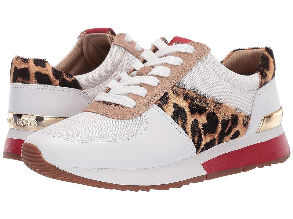 MICHAEL Michael Kors Allie Trainer (Optic White/Natural Vachetta/Cheetah Haircalf/Small Air Mesh) Women