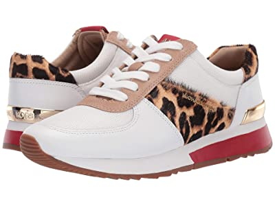 MICHAEL Michael Kors Allie Trainer (Optic White/Natural Vachetta/Cheetah Haircalf/Small Air Mesh) Women