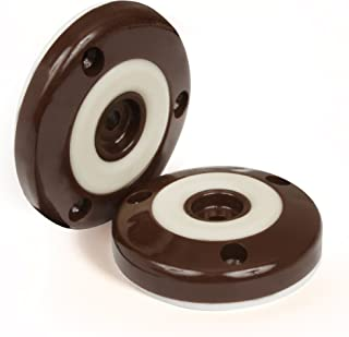 Slipstick CB505 Furniture Feet Floor Protectors with Non Slip Rubber Grip (Set of 4 Grippers) 2 Inch Round - Chocolate Brown