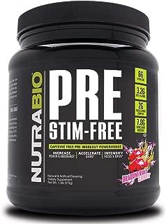 NutraBio Pre Stim Free – Caffeine Free Pre Workout (Dragonfruit Candy)