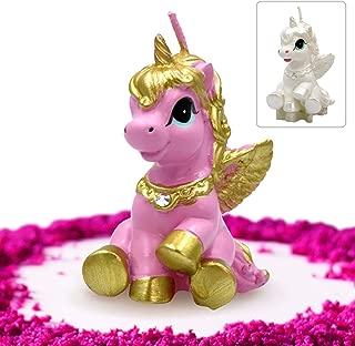 GET FRESH Unicorn Candle for Birthday and Wedding – Premium Quality Unicorn Candle Cake Topper in Gift Box – Elegant Unicorn Cake Decoration Candle for Any Occasion – Pink Unicorn Birthday Candle
