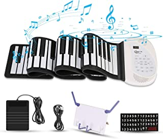 Hricane Roll Up Piano Keyboard, Portable 61 Keys Electronic