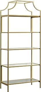 Sauder 421434 International Lux Bookcase, Satin Gold Finish