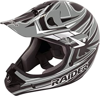 Raider Y55-564G-13 Rush Youth MX Off-Road Helmet, Grey (Small)