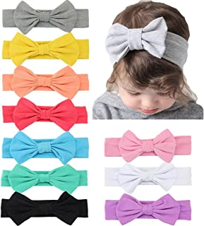 Xinshi Baby Girls Elastic Soft Hair Band Infant Bow Headbands Turban