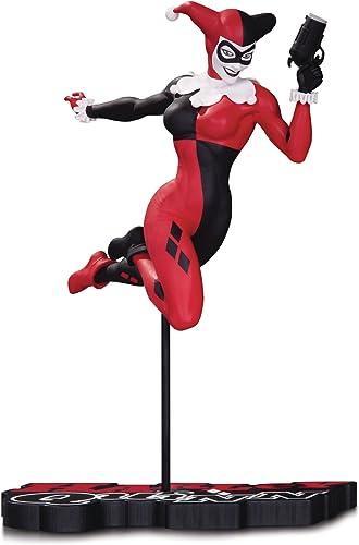 DC Comics jan170429 rley Quinn Statue, rot WeißSchwarz