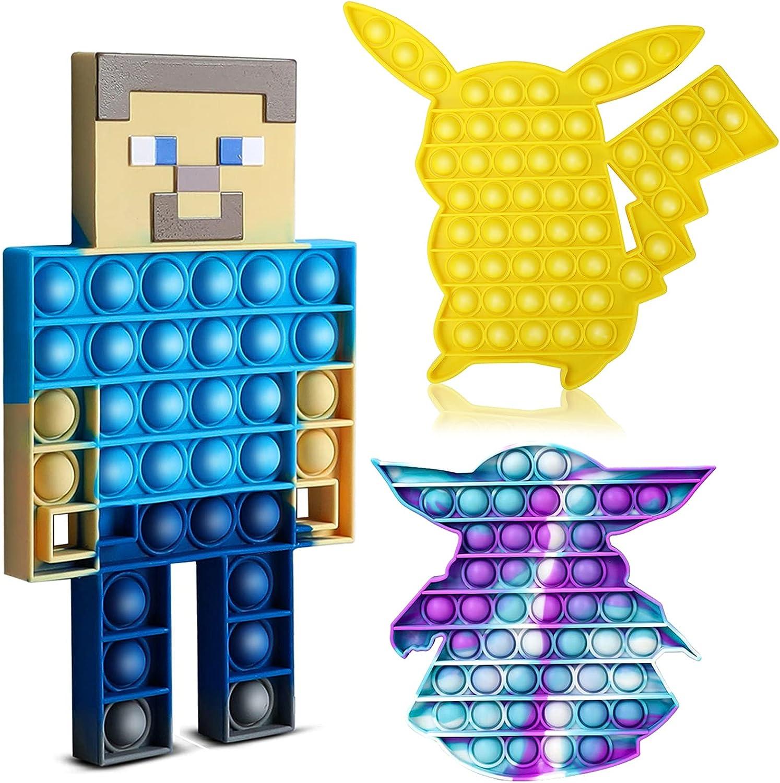 3 Pack Push Pop Fidget Sensory Toys Max 76% OFF discount Stress Speci - Relief Autism