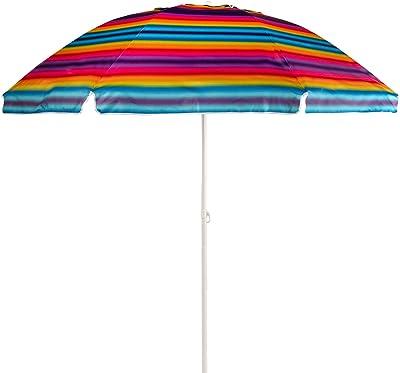 Relaxdays Base Sombrilla para Clavar al Suelo con Adaptadores 22-55 mm, Acero Galvanizado, Plateado, 56, 5 x 7 x 7 cm: Amazon.es: Jardín