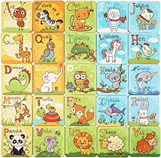 Here Fashion 52 PCS Animal Matching Game Cards and 8 Pcs Shape Cards - Education Family Cards Toy Improves Cognitive Development and Develops Memory Skills for Age 3+