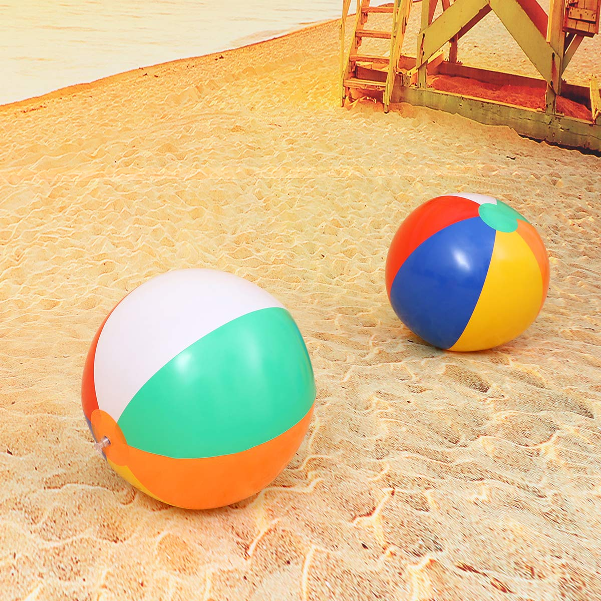 Toyvian Pelotas de Playa inflables Piscinas Decoración de Bolas ...