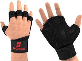 ProFitness Cross Training Gloves with Wrist Support Non-Slip Palm Silicone Padding to Avoid Calluses | for Weight Lifting,...