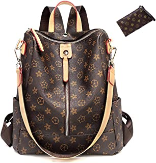 ZUNIYAMAMA Casual Purse Fashion School Leather Backpack Crossbady Shoulder Bag Mini Backpack for Women & Teenage Girls black