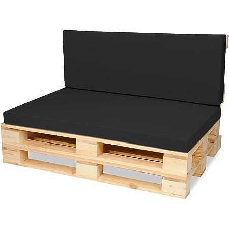 120x40 cm Outdoor und Indoor Bordeaux Superkissen24 Palettenkissen Palettenauflagen Sitzkissen
