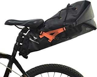 Moosetreks Seatpost Bag | Lightweight Rackless Mounting Bikepacking System | Waterproof Roll Opening Seat Pack | Secure Attachment to Seat Post and Saddle