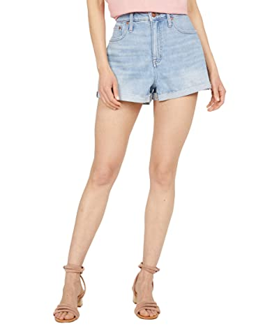Madewell Curvy High-Rise Denim Shorts in Hemp in Watt Wash Women