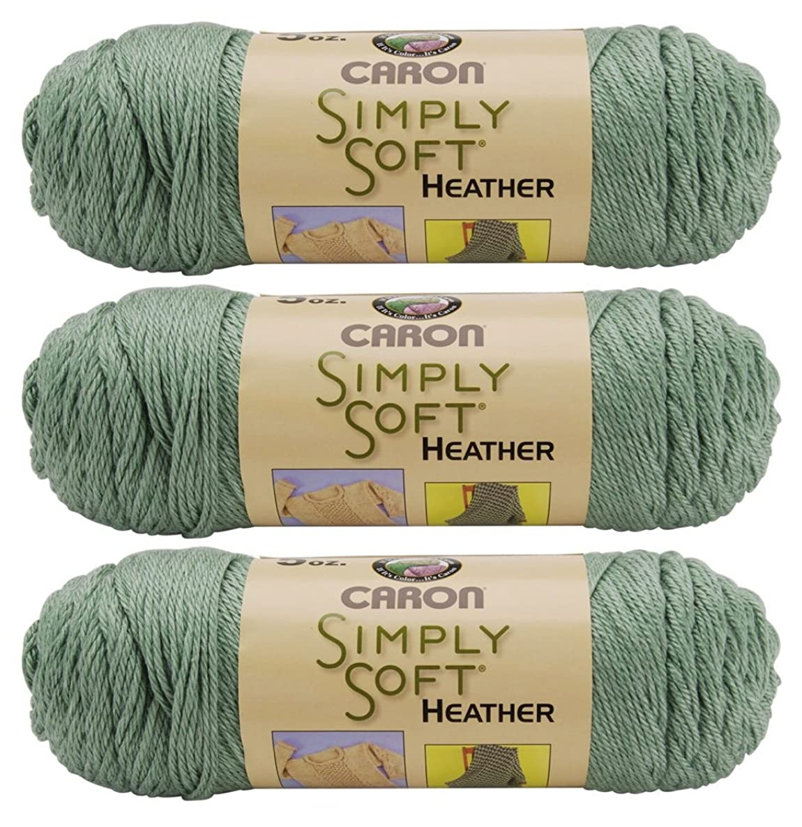 Bulk Buy: Caron Simply Soft Heather Yarn (3-Pack) Woodland H9700H-9503
