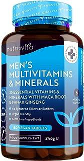 Multivitaminas y Minerales veganas para Hombre - 25 vitaminas y minerales esenciales que incluyen todas las Vitaminas C, b...