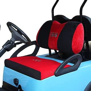 10L0L Golf Cart Bench Seat Cover Set, Cotton Washable Velour Terry Cloth Fits Club Car DS & Precedent, EZGO TXT & RXV, Yamaha Electric Golf Carts