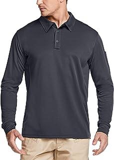 CQR Men's Long/Short Sleeve Tactical Work Shirts, Dry Fit Lightweight Polo Shirts, Outdoor Performance UPF 50+ Collared Shirt