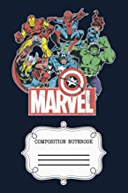 "Marvel Avengers Team Retro Comic Vintage Graphic 3QC7W Notebook: 120 Wide Lined Pages - 6"" x 9"" - College Ruled Journal Bo..."