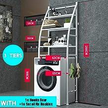 Stainless Steel Shelf Bathroom Space Saver, 3-Tier Toilet Towel Storage Rack Holder Over The Bathroom Toilet Shelf Organizer