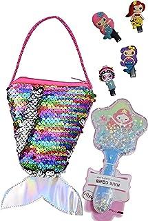 Le Delite Mermaids Combo of Mermaid Glitter Sling Bag , Fur Wallet , Mermaid Hair Clips