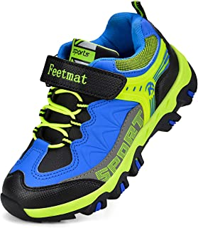 Feetmat Boys Hiking Shoes Waterproof Kids Sneaker Black Size: 4 Big Kid