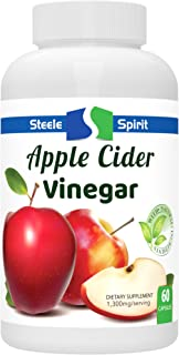 Extra Strength Apple Cider Vinegar Capsules - Weight Loss, Digestion, Detox Cleanse Supplement - Non GMO