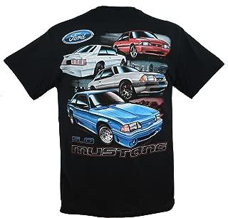 1979 to 1993 Ford Mustang Fox Body 5.0 T-Shirt 100% Cotton Preshrunk Black