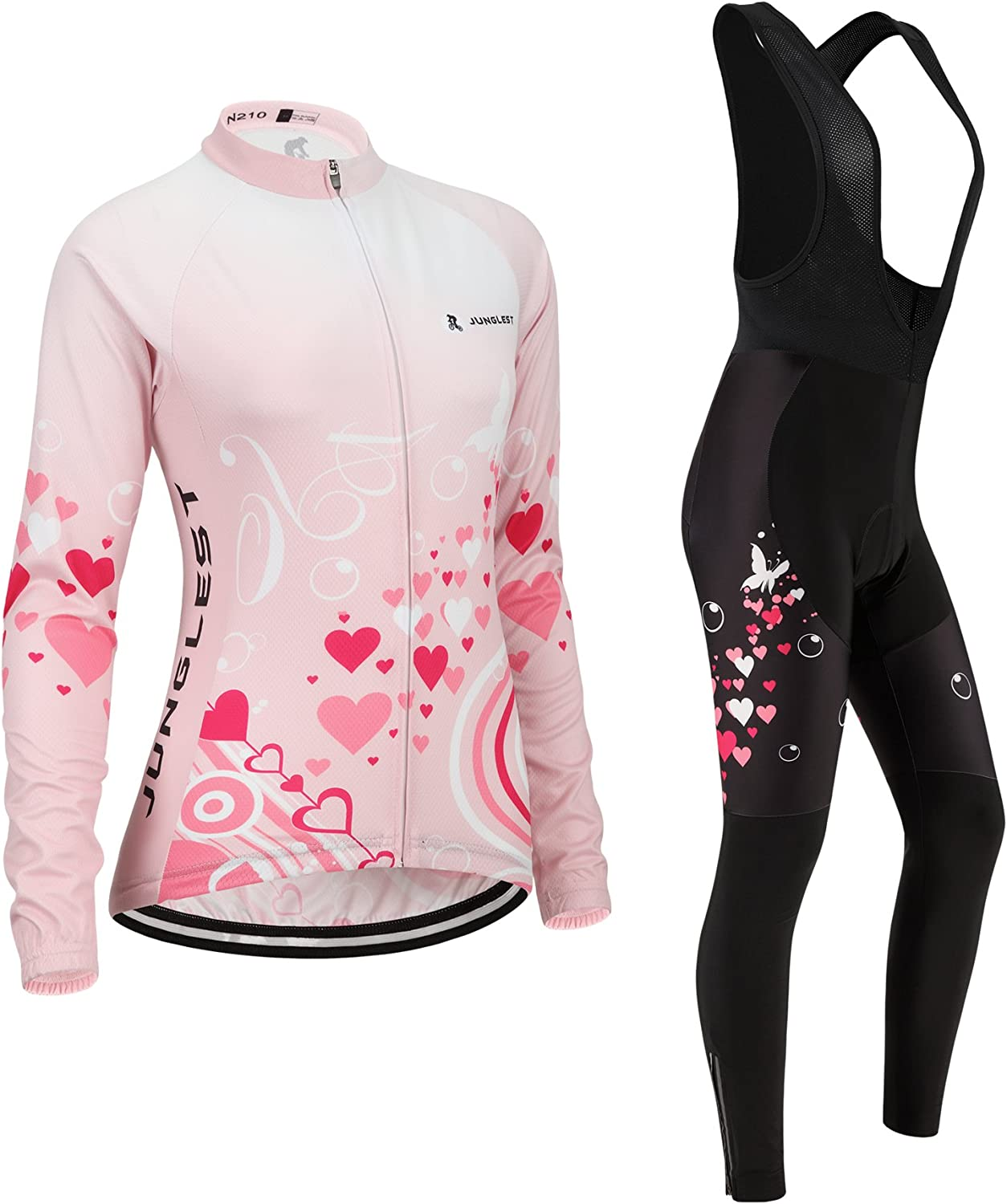 Cycling jersey Set, Maillot de Cyclisme Women Femme Long sleeve Manches Longues(S5XL,option bib Cuissard,3D pad Coussin) N210