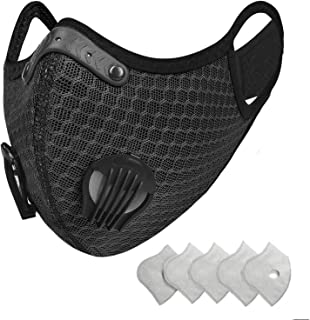 ROFTEK 1 Sets Covers [2nd Generation] with 6Extra Active Carbon FiltersBlack