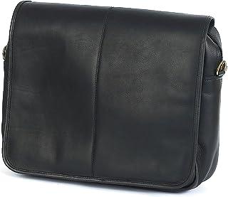 クレアチェイス167E-黒高級メッセンジャーブリーフケース - ブラック