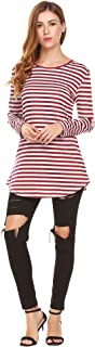 Best red and white striped tunic top Reviews