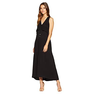 Sanctuary Delphina Tiered Maxi Dress (Black) Women