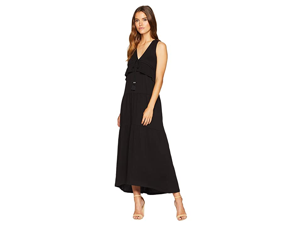 Sanctuary Delphina Tiered Maxi Dress (Black) Women
