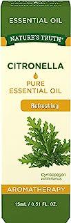 Citronella Essential Oil | 15 mL | 100% Pure | Natural & Undiluted | for Diffuser | Theraputic Grade | by Nature's Truth