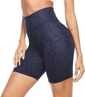 Persit Damen Kurze Sporthose, Blickdicht Hohe Taille Yoga Leggings mit versteckter Tasche im Bündchen