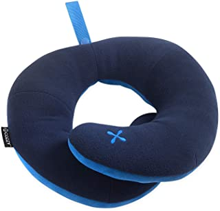 BCOZZY Chin Supporting Travel Pillow - Supports The Head, Neck, and Chin in in Any Sitting Position. for Plane, Car, and Home. Fully Washable. A Patented Product. Adult Size, Pearl
