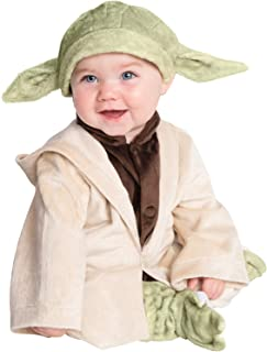 Rubie's Baby Star Wars Classic Yoda Deluxe Plush Costume, As Shown, 2T