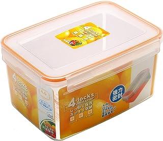 ストリックスデザイン 4点ロック 密封 保存容器 4lockscontainer オレンジ 4.6L 長方形 野菜果物の呼吸を抑え鮮度劣化を遅らせる CEMバイオ処理加工 HT-125