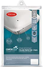 Tontine T6623 Comfortech Stain Resistant Pillow Protector, White, Pack of 2