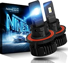 NINEO H13 9008 LED Headlight Bulbs - CREE Chips - 12000Lm 6500K Extremely Bright All-in-One Conversion Kit,360 Degree Adjustable Beam Angle
