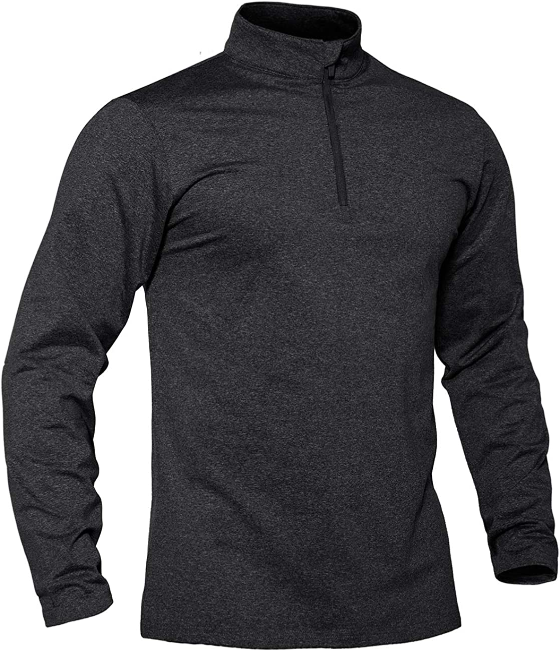 TACVASEN Men's Sports Shirts lowest price 1 4 Fleece Lined Limited price Long Ru Sleeve Zip