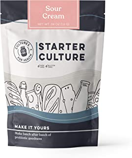 Sour Cream Starter Culture | Cultures for Health | Homemade, thick, tangy, healthy probiotic sour cream | No maintenance, non-GMO