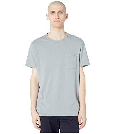J.Crew Garment-Dyed Slub Cotton Crewneck T-Shirt (Slate Blue) Men