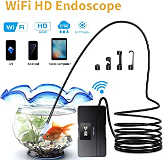 Endoscope, Wireless Borescope Inspection Camera, 2.0 Megapixels HD Snake Camera & 2600mAh Battery, for Android and iOS Smartphone, iPhone, Samsung, Tablet (16.4FT)